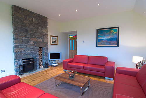 Tioram Lounge with log burner